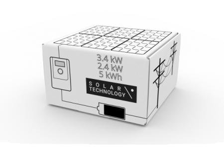450 - Гибридная солнечная электростанция мощностью панелей 3.4 кВт