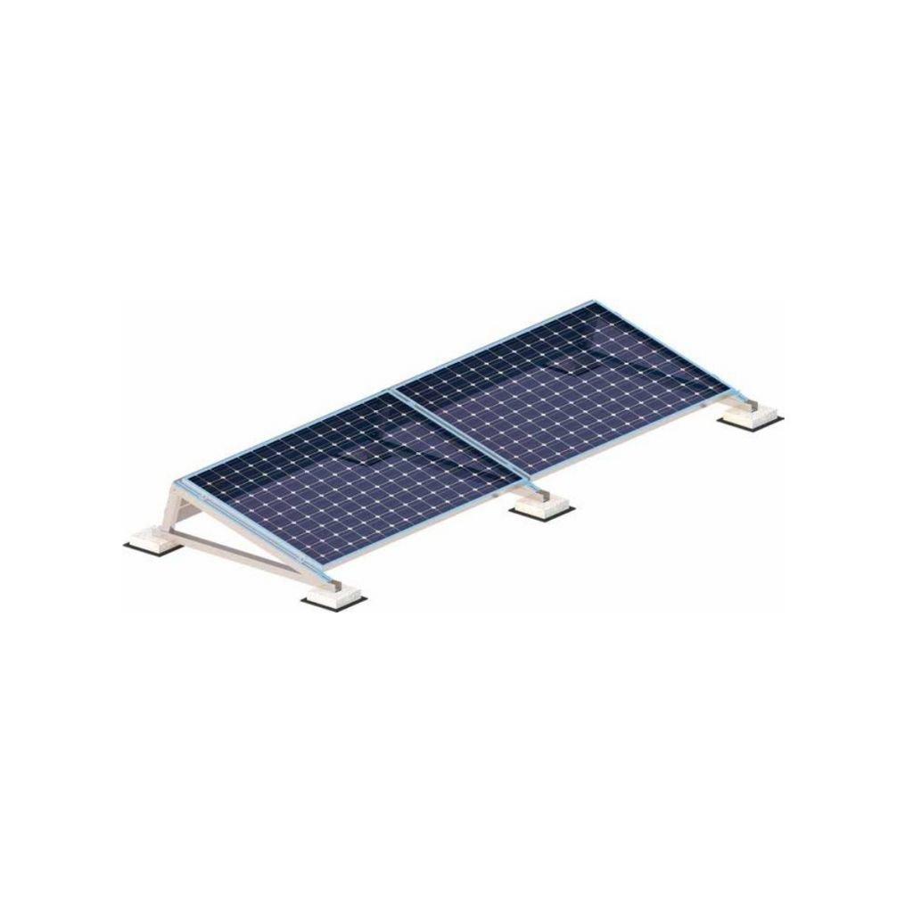 632 - Кріплення сонячних панелей на плаский дах - Kripter Ballast Fix - 8 панелей (пласка покрівля)