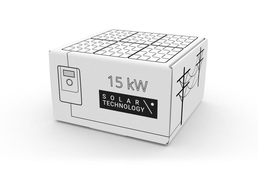 184 - Сетевая солнечная электростанция 15 кВт для частного дома под зеленый тариф