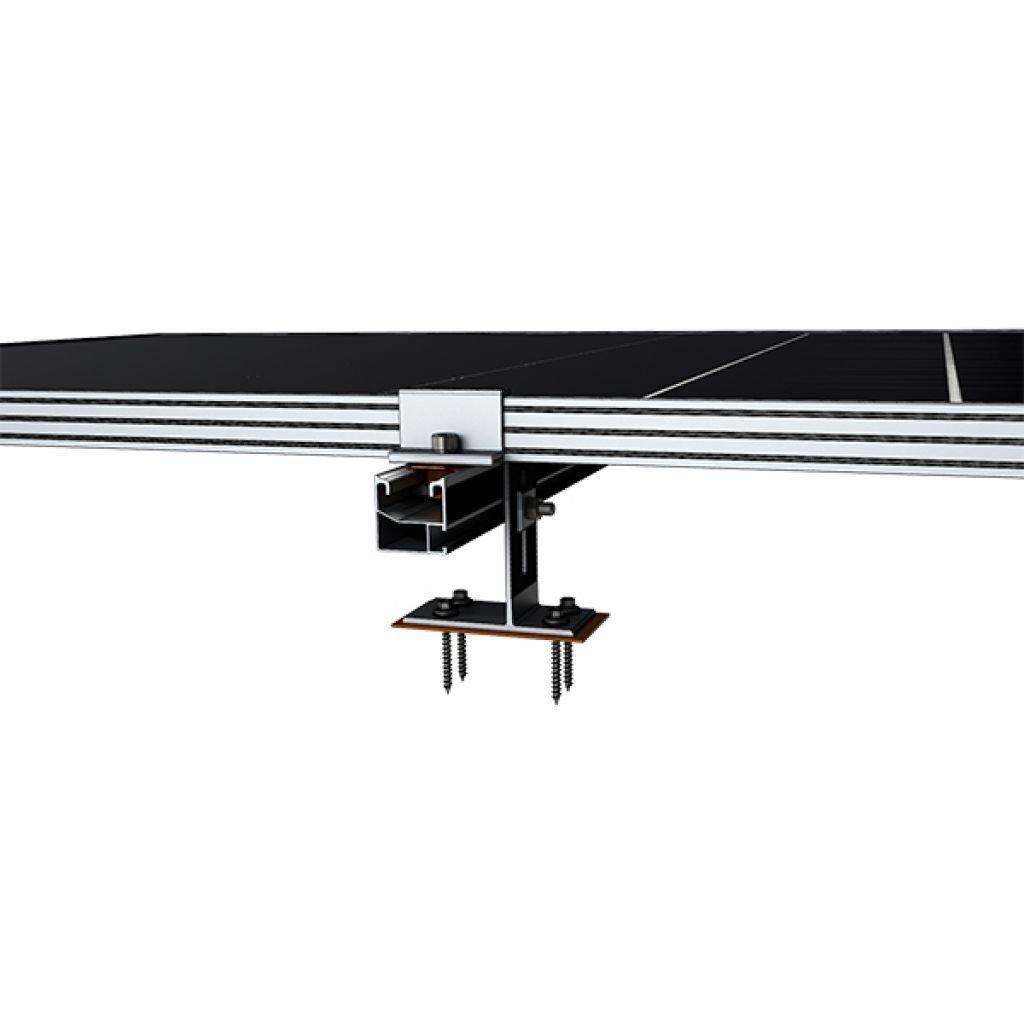 280 - Система кріплення Kripter для 7 сонячних панелей на бітумну черепицю