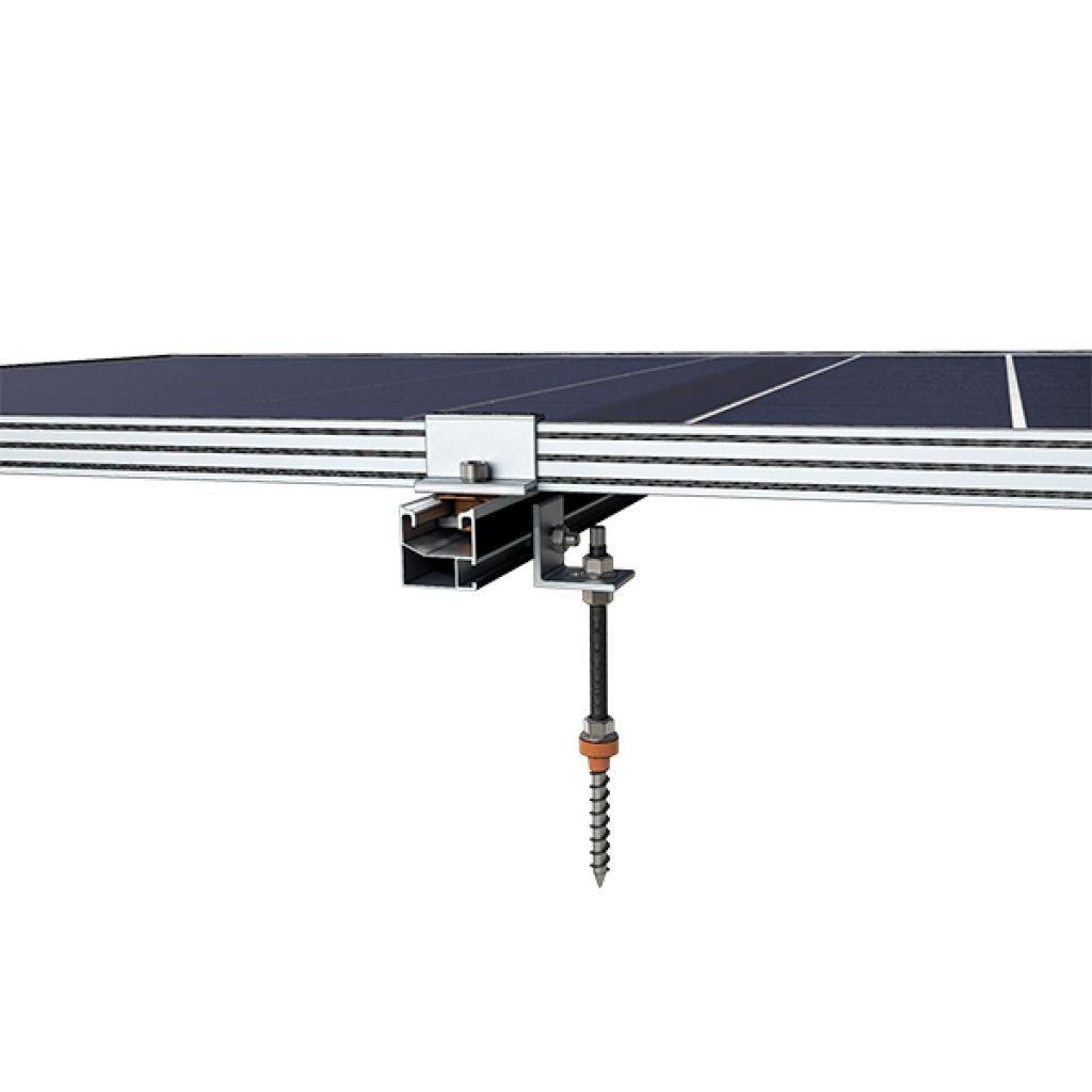 287 - Система кріплення Kripter для 3 сонячних панелей на металочерепицю