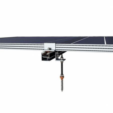 289 - Система крепления Kripter для 5 солнечных панелей на металлочерепицу