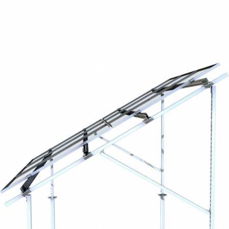 296 - Система крепления Kripter для 10 солнечных панелей на землю