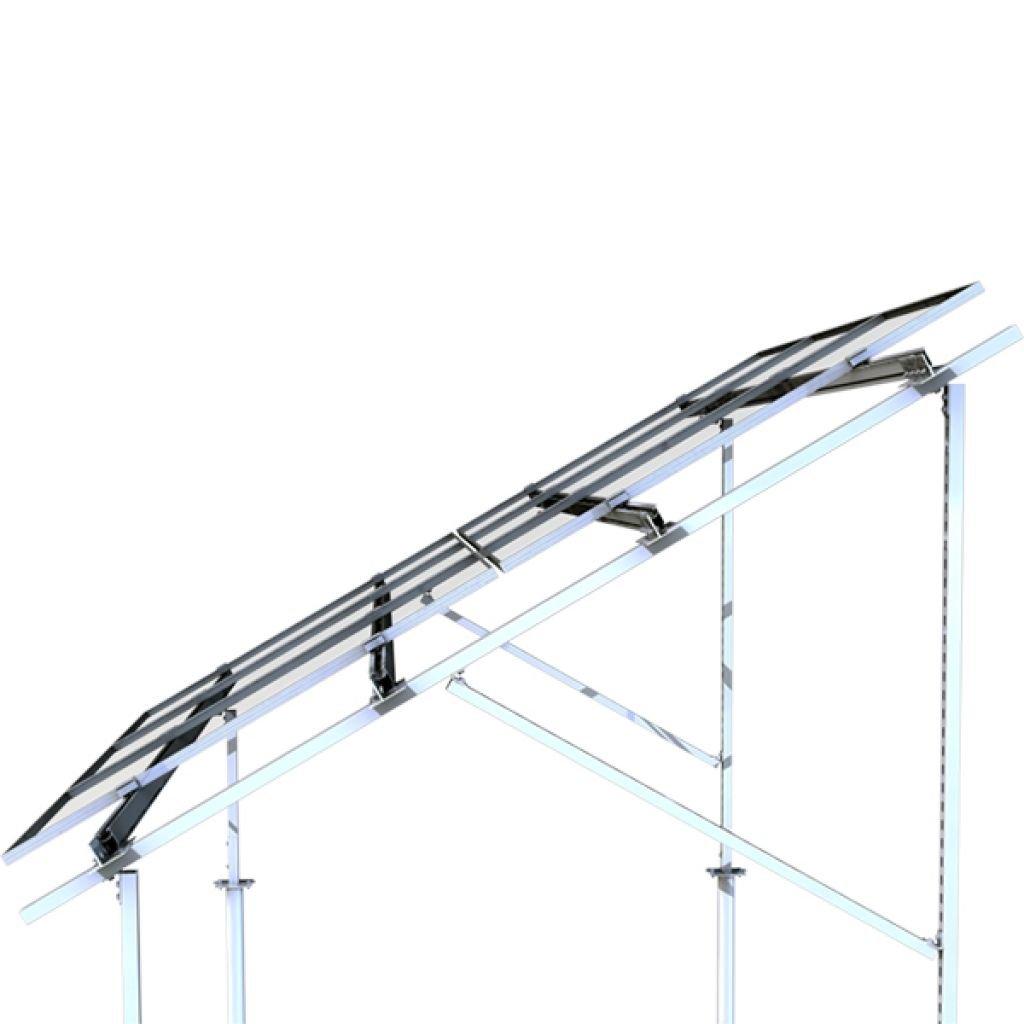 310 - Система крепления Kripter для 38 солнечных панелей на землю