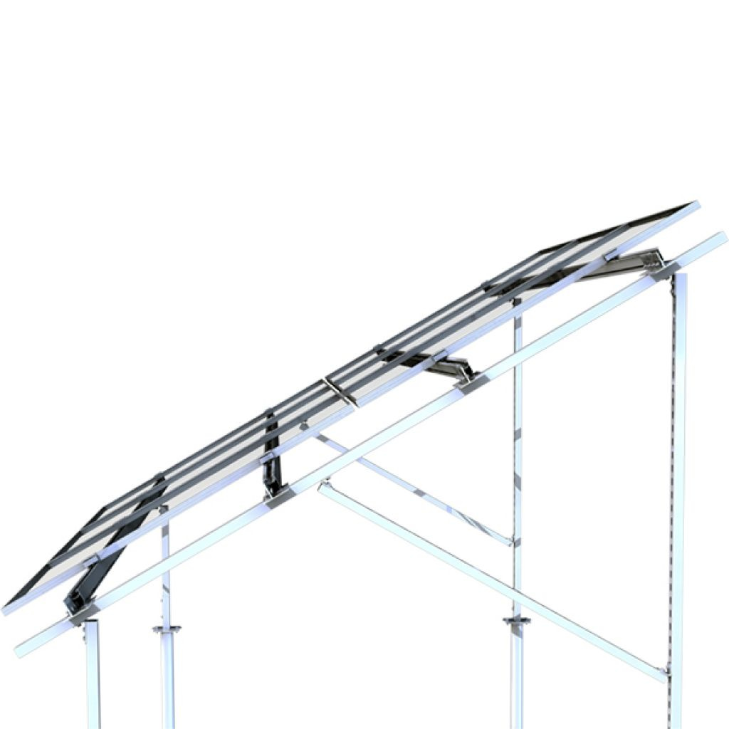 313 - Система крепления Kripter для 44 солнечных панелей на землю